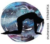 women silhouette on galaxy...   Shutterstock .eps vector #559686916