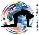 women silhouette on galaxy...   Shutterstock .eps vector #559686946