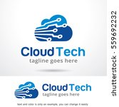 cloud tech logo template design ... | Shutterstock .eps vector #559692232