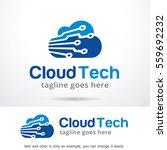 cloud tech logo template design ... | Shutterstock .eps vector #559692232