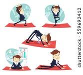 illustration funny business... | Shutterstock . vector #559692412