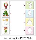 christmas angel  santa  elf and ...   Shutterstock .eps vector #559696036