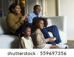 african descent family house... | Shutterstock . vector #559697356