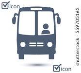 bus icon. schoolbus symbol.... | Shutterstock .eps vector #559705162