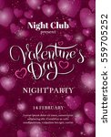 valentines day party flyer... | Shutterstock .eps vector #559705252