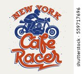 cafe racer silhouette and... | Shutterstock .eps vector #559717696