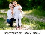 people with down syndrome are... | Shutterstock . vector #559720582