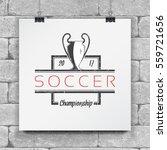 soccer football club. sport... | Shutterstock .eps vector #559721656