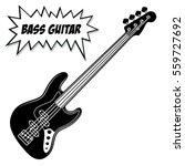 Bass Guitar 4 Strings. Vector...
