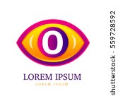 abstract eco logo with eye icon | Shutterstock . vector #559728592