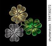 Leaf Clover Isolated. Vector...