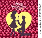 valentines day   romantic... | Shutterstock .eps vector #559733266
