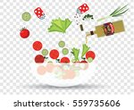 salad cooking | Shutterstock .eps vector #559735606