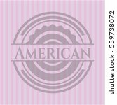 american badge with pink... | Shutterstock .eps vector #559738072