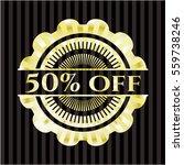 50  off gold badge or emblem | Shutterstock .eps vector #559738246