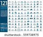 mega set and big group  real... | Shutterstock .eps vector #559738975