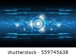 circle technology abstract... | Shutterstock .eps vector #559745638