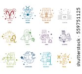 zodiac icon set   vector... | Shutterstock .eps vector #559751125