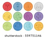zodiac icon set   vector... | Shutterstock .eps vector #559751146
