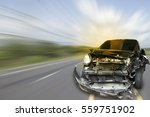 car of accident make front... | Shutterstock . vector #559751902