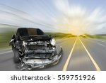 car of accident make front... | Shutterstock . vector #559751926