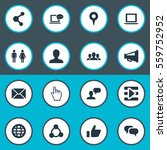 set of 16 simple internet icons.... | Shutterstock . vector #559752952
