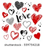 vector hand drawn collection of ... | Shutterstock .eps vector #559754218