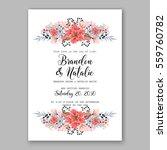 wedding invitation floral... | Shutterstock .eps vector #559760782