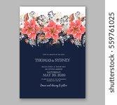 wedding invitation floral... | Shutterstock .eps vector #559761025