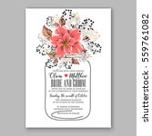 wedding invitation floral... | Shutterstock .eps vector #559761082