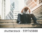 tired or stressed businessman... | Shutterstock . vector #559765888