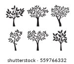 collection of black trees with... | Shutterstock .eps vector #559766332