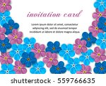 vintage  invitation with... | Shutterstock .eps vector #559766635