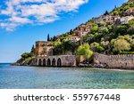 dockyard and arsenal in alanya... | Shutterstock . vector #559767448