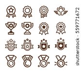 color vector set of champions... | Shutterstock .eps vector #559771672