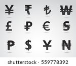 currency symbols on white... | Shutterstock . vector #559778392