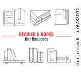 reading and books thin icons.... | Shutterstock .eps vector #559786012