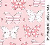 seamless butterfly pattern... | Shutterstock .eps vector #559787656