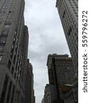 tall stone buildings under a