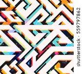 bright geometric seamless... | Shutterstock .eps vector #559797862