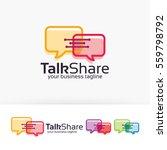 talk share  chat  communication ... | Shutterstock .eps vector #559798792