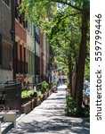 Nyc Street With Residential...