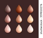 different colors of foundation... | Shutterstock .eps vector #559810276