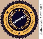 professional certified stamp... | Shutterstock .eps vector #559810822