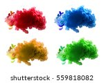 collection of acrylic colors in ... | Shutterstock . vector #559818082