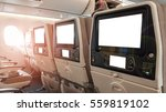 closeup lcd rear seat on the... | Shutterstock . vector #559819102