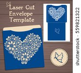 lasercut vector wedding... | Shutterstock .eps vector #559821322
