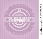 business strategy badge with... | Shutterstock .eps vector #559824256