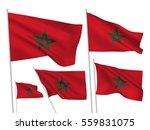 morocco vector flags set. 5... | Shutterstock .eps vector #559831075