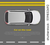 car on road conceptual web... | Shutterstock .eps vector #559832692